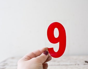 Marquee Number 9 Sign Red Marquee Plastic Number 6 Six 9 Nine Sign Vintage