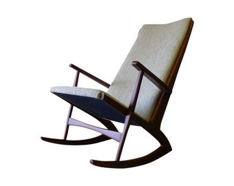 TEAK Mid Century Modern LOUNGE CHAIR Rocker