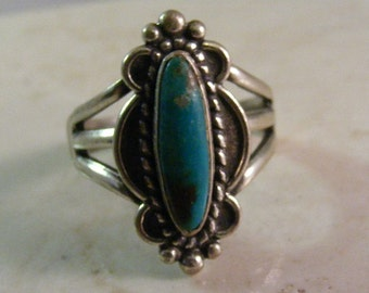 Vintage Sothwest Bell Trading Company Turquoise Ring in Sterling Silver.....  Lot 5118