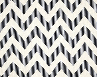 Navy Blue White Chevy Chevron Curtains  Rod Pocket  63 72 84 90 96 108 or 120 Long by 24 or 50 Wide