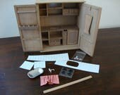 RESERVED for Meredith   Miniature Tuscan style kitchen cabinet 1.12 scale with oven and dishwasher