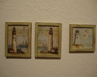 dollhouse miniature   little pictures shabby chic