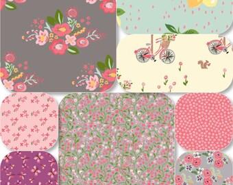 Pick Size Rag Quilt - Bloom King Queen Full Twin xl Throw - Modern Handmade Bedding