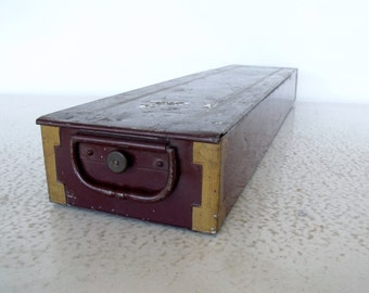 Bank Safe Deposit Box Steel  Safety Valuables Vault Banking Storage Container