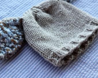 PDF Pattern, Child's Easter Hat Pattern, Knit Easter Hat Pattern, Girls' Easter Hat Pattern, Girls' Bunny Hat Pattern, Boho Bunny Hat