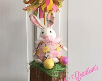 Bunny Table Accent, Bunny Topiary, Bunny Centerpiece, Easter Bunny, Easter Decorations