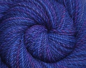 Hand spun yarn - Hand painted Blue Faced Leicester (BFL) wool, DK weight, 280 yards - Pomp & Circumstance