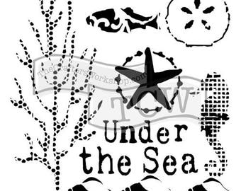 Crafters' Workshop - 6 x 6 or 12 x 12 Under the Sea TCW709