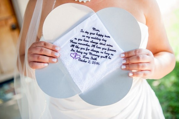 Wedding handkerchiefs for Mother of the Bride