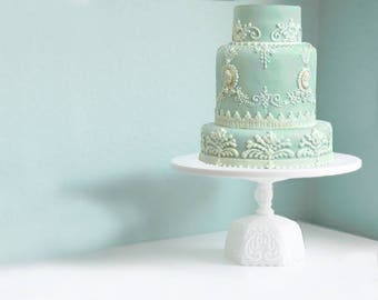 Scroll Wedding Cake Stand / Victorian Era Style Wedding Cake Stand
