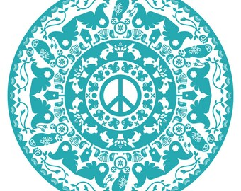 Peace Flour Sack Tea Towel