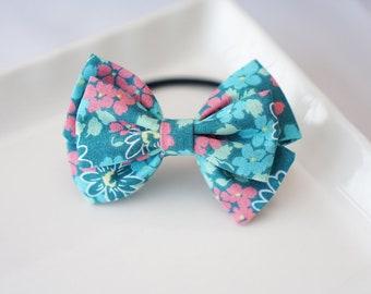 Cotton Bow Headband Clip Ponytail Holder