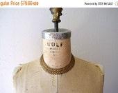 SALE 1930s 1940s brass necklace . vintage 30s 40s necklace
