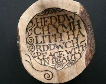 Blackthorn Welsh Poem Bowl: 'Peace'