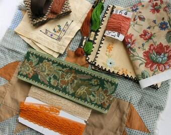 Inspiration Bundle Vintage Fabric Finds & Cutter Linens