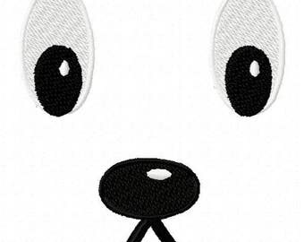 Dog Face Machine Embroidery Design - Instant Download