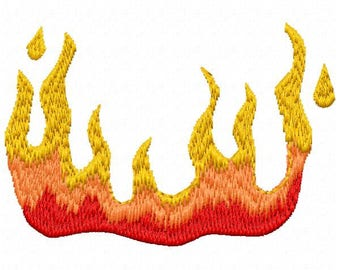 Flames Machine Embroidery Design - Instant Download