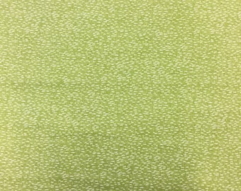 Makower 1749 Dash in lime green cotton craft fabric by the half metre