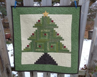 Oh Christmas Tree Quilt, Holiday Quilt, Christmas Quilt,1205-01