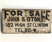 Antique hand painted sign