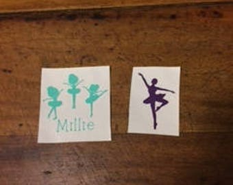 Personalized Ballerina Decal