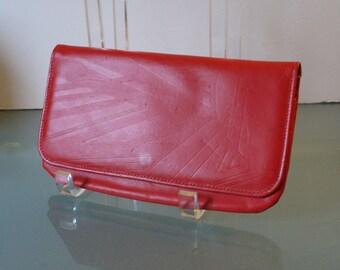 Vintage Princess Gardner Red Calf Skin Pouch