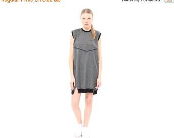 Grey dress, Sleeveless Sweatshirt Dress, spring, summer 2016, everyday dress, Hoodie Dress, cool dress