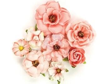 Prima Marketing Rose Quartz Flower Embellishement Rosa Verona New Release In Stock Ready To Ship