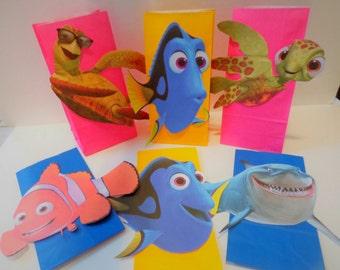 Dory & Nemo Favor bags Party Birthday