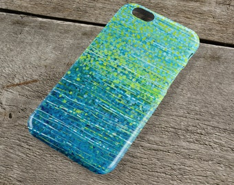 Forest Glade Teal & Green iPhone Case - Blue and Green Abstract Art Case for iPhones iP4, iP5/S/SE, iP5C, iP6/S, iP6+/S, iPod Touch 5