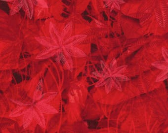 Bright Red Fall Leaves from Timeless Teasures