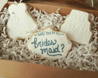 Will You Be My Bridesmaid Cookies Gift Box Set