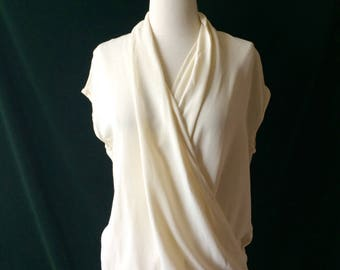 Vintage Ivory Grecian Style Blouse