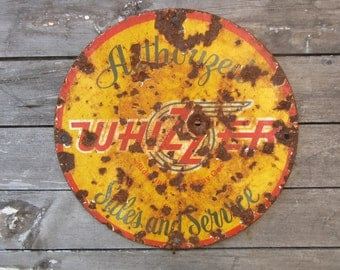Porcelain Metal Sign Whizzer Scooter Sales Service Sign Reproduction 1940s Style Vintage Look Distressed Antique Aged to look Old Rustic