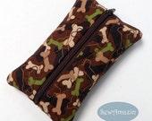 Camo Doggie Bones Pocket Tissue Holder, Travel Tissue Case, Camouflage