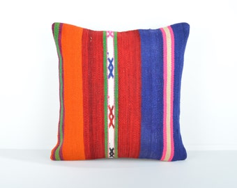 Kilim pillow cover, kp1658, Kilim Pillow, Turkish Pillow, Kilim Cushions, Kilim, Moroccan Pillow, Bohemian Pillow, Turkish Kilim