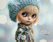 Blythe Ooak Set FOREST MISTS By Odd Princess Atelier, Jacket, Beret, Hand Knitted Collection
