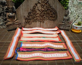 Tribal Textile Up cycled Supply Pieces 8pcs Small Strap
