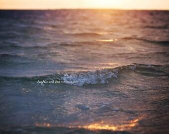 Sunset Wave Photo,  Sea Ocean Beach Photography, Travel Art, Tropical Coastal House Decor, Nautical Home Decor Wall Art