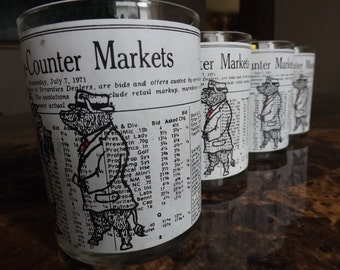 Vintage Stock Market Glasses/Bear Market Glasses