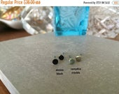 SALE spring clean 75% Tiny Black Stud Earrings- Handpainted Studs- Divorce Jewelry- Round Stud- Black Stud- Wedding Jewelry- Gift For Her- B