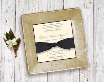 Custom wedding invitation decoupage plate keepsake unique wedding gift idea for couples for parents 1st anniversary