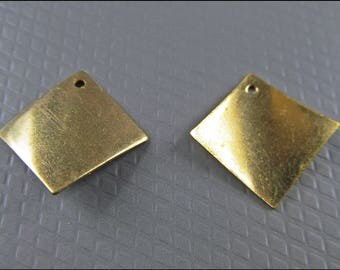 20 x curved rectangle plate, brass A15
