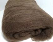 Ultra-Fine Merino Batt, 3.5 oz, natural spinning fiber, carded batt, hand processed