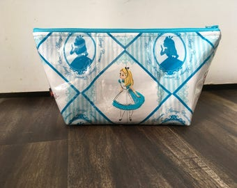 Handmade Alice in Wonderland Large Makeup Bag