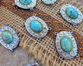 Turquoise Jewelry, Vintage Beads, Turquoise Beads, Turquoise Charms, Vintage Findings, Unique Findings, Jewelry Making, Vintage Turquoise