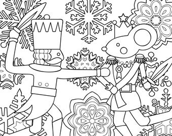 printable coloring page zentangle coloring book nutcracker - Zentangle Coloring Book