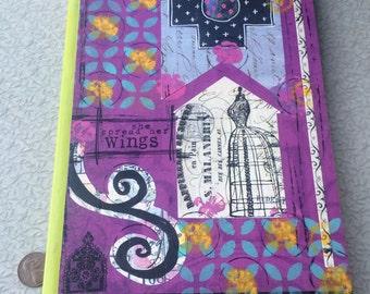 Mixed Media Art Journal She Spread Her Wings Blank notebook