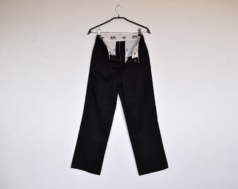 Vintage NOS Dickies Pants Black Jeans Deadstock Size 30 x 30