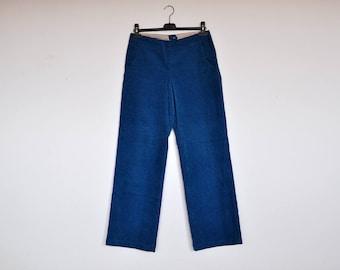 Vintage Blue Corduroy NOA NOA Straight Legs Boyfriend Trousers Relaxed Fit Pants